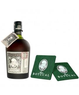 Ron Botucal Reserva Exclusiva Rum und Untersetzer