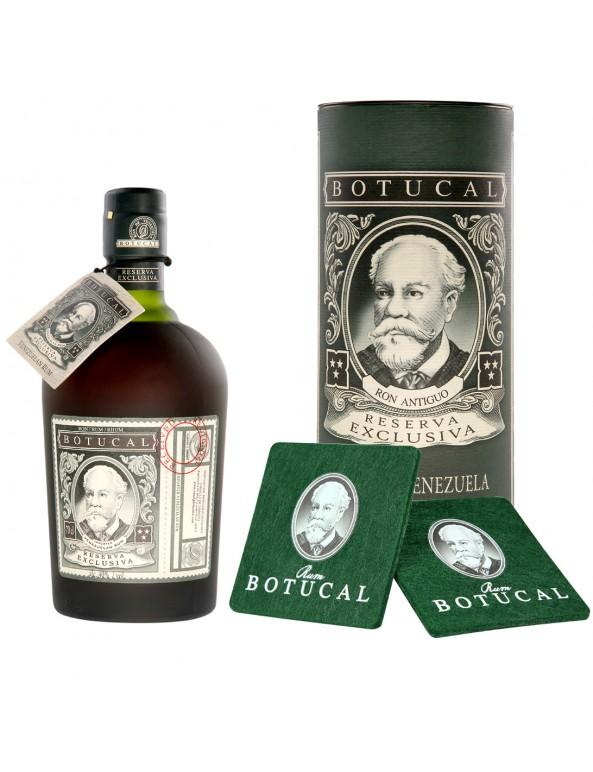 Ron Botucal Reserva Exclusiva Rum mit Untersetzer