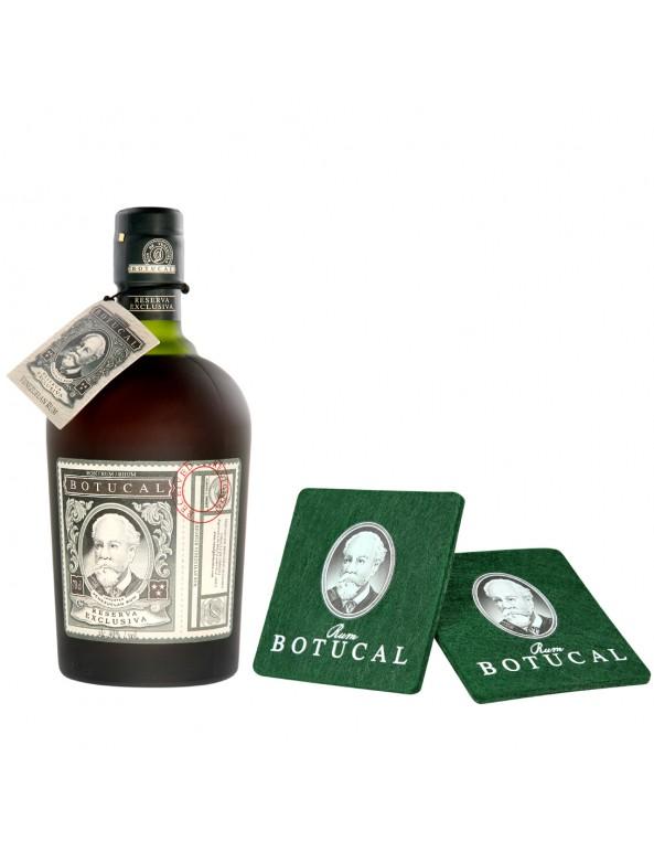 Botucal Reserva Exclusiva Rum und Untersetzer
